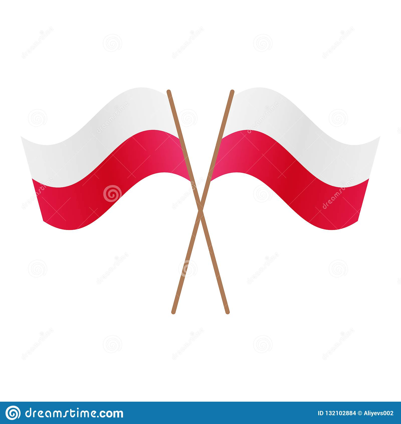 Symmetrical Crossed Poland flags