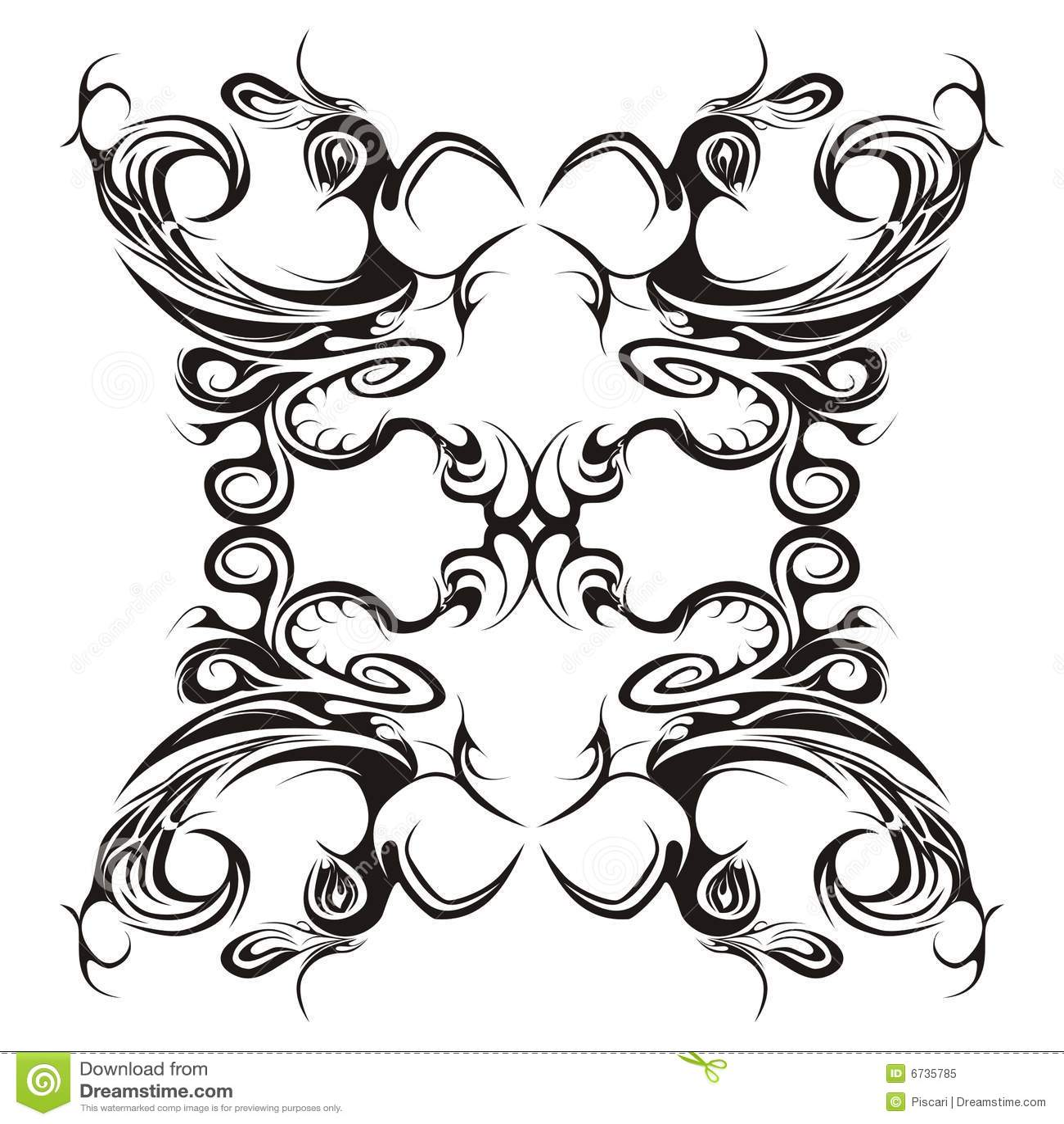 symmetrical floral design royalty free stock photo image 6735785. Black Bedroom Furniture Sets. Home Design Ideas