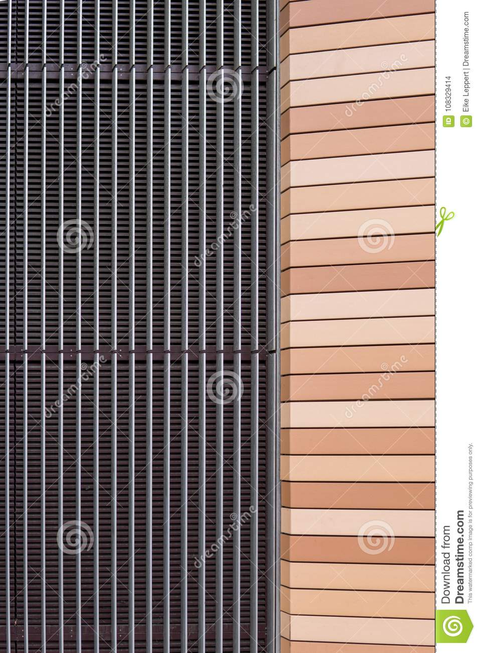 Download comp & Symmetrical House Facade Auf Of Metal And Plastic. Stock Photo ...