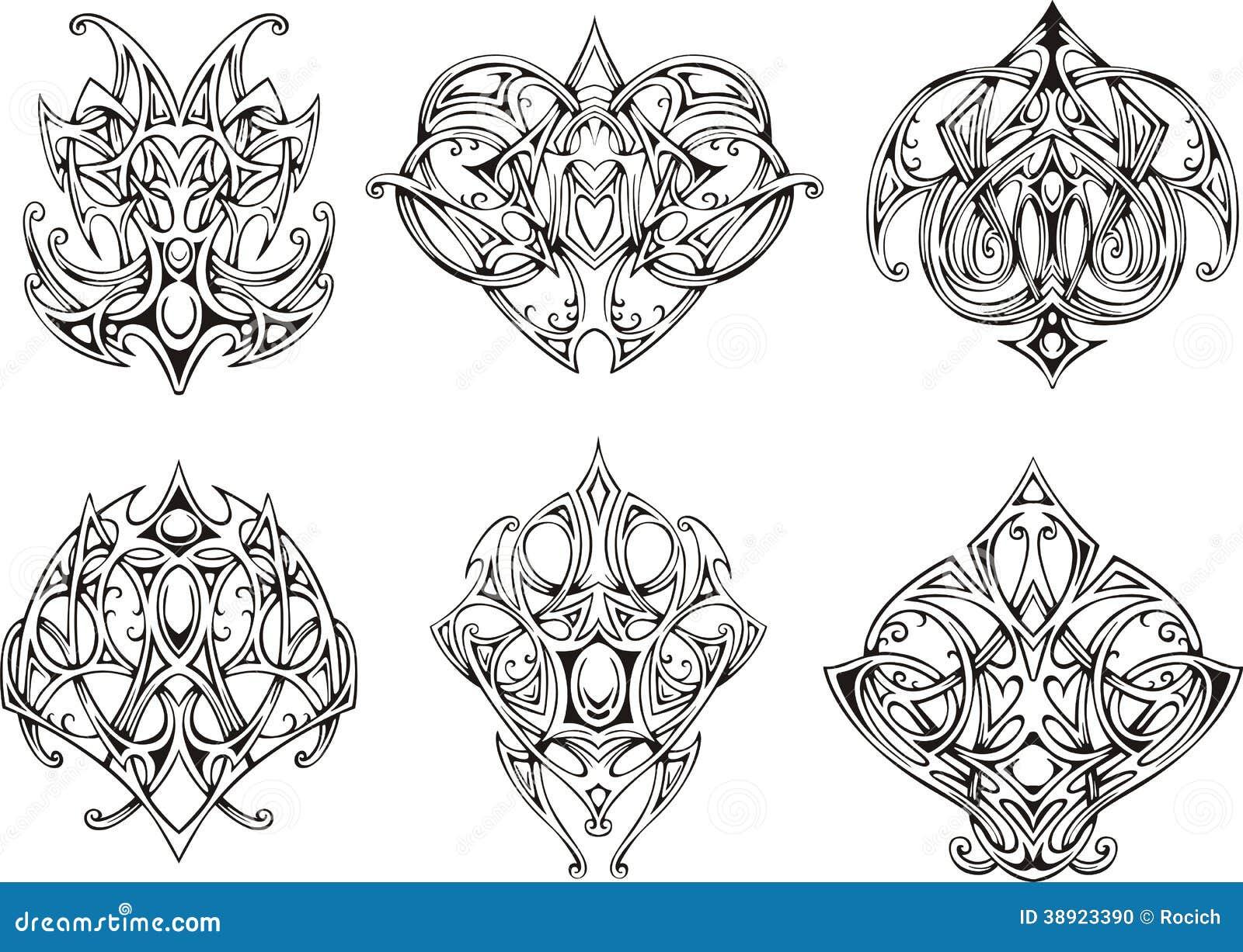 symmetrical knot tattoo designs stock illustration image 38923390. Black Bedroom Furniture Sets. Home Design Ideas
