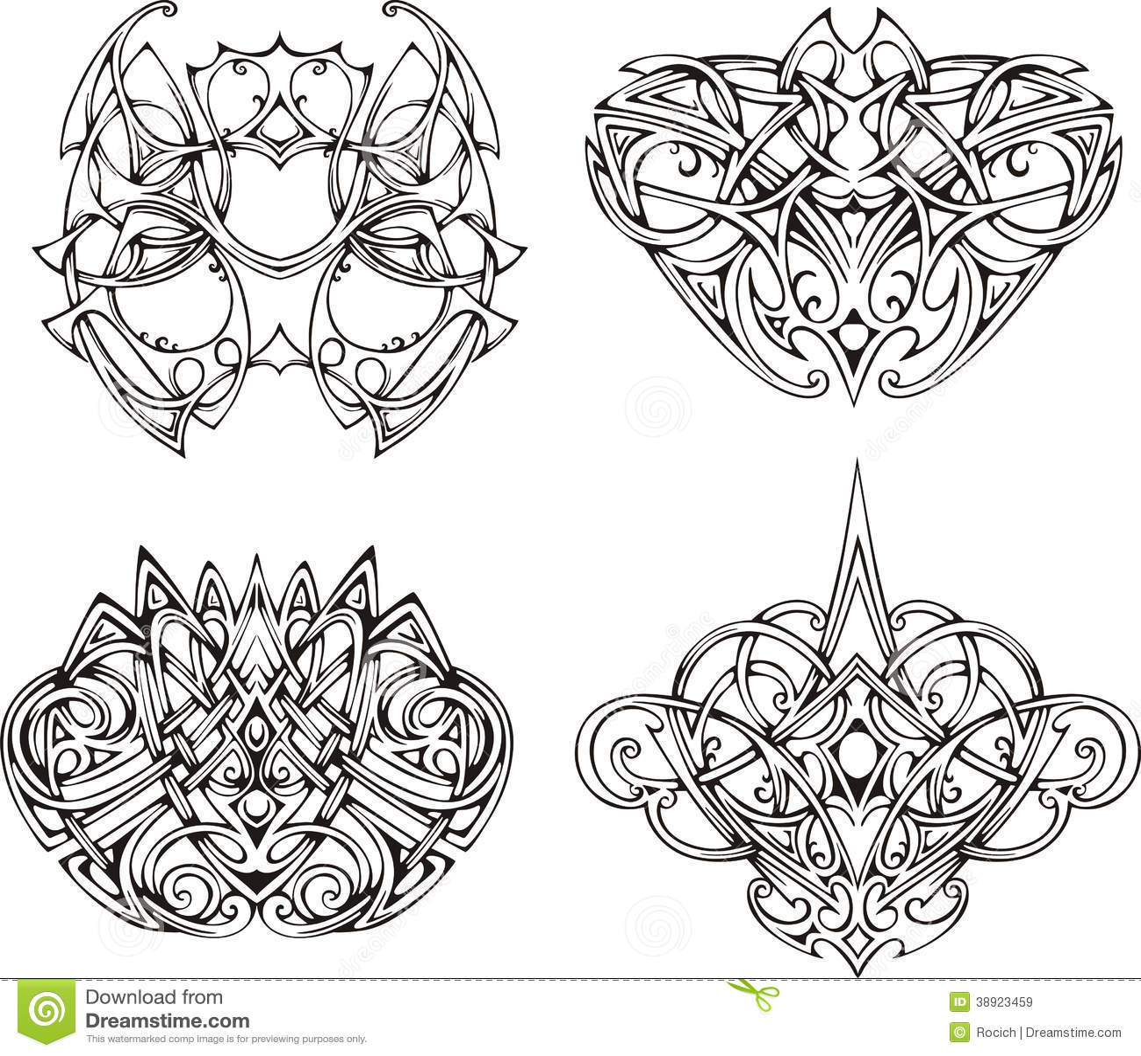 symmetrical knot tattoo designs stock illustration illustration of illustration black 38923459. Black Bedroom Furniture Sets. Home Design Ideas