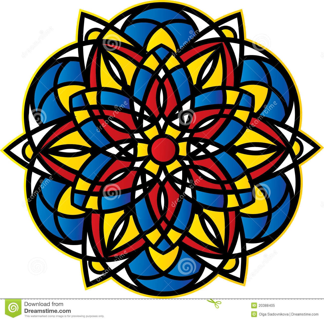 Symmetrical Pattern Royalty Free Stock Photo - Image: 20388405