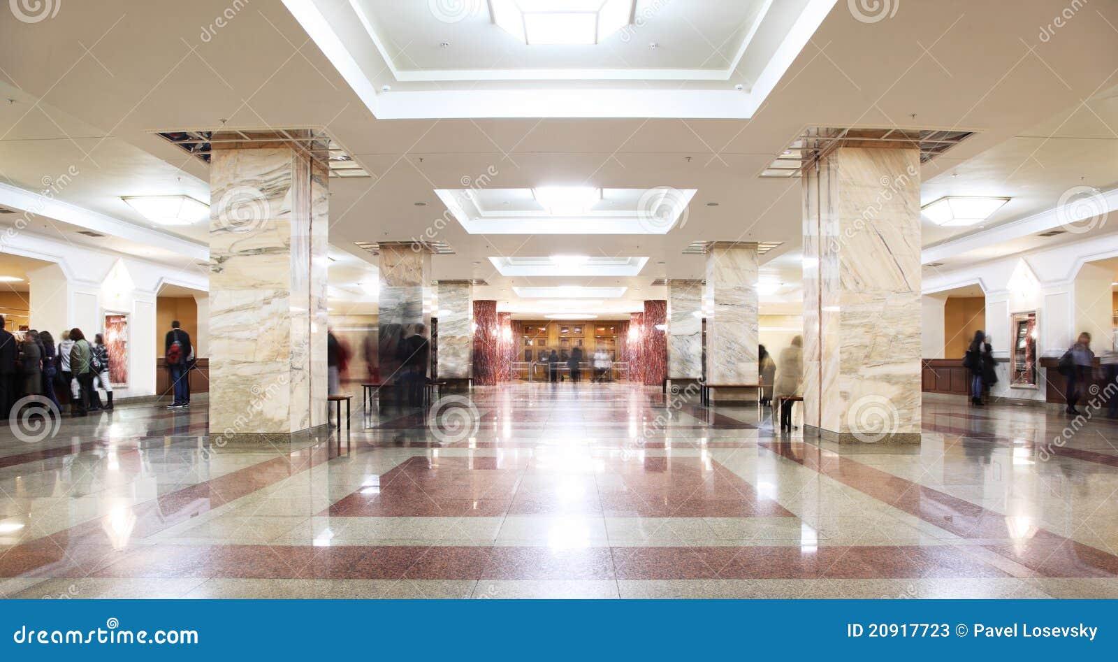 Symmetrische zaal in de bouw van bibliotheek msu redactionele stock foto afbeelding 20917723 - Decoratie gang ingang ...
