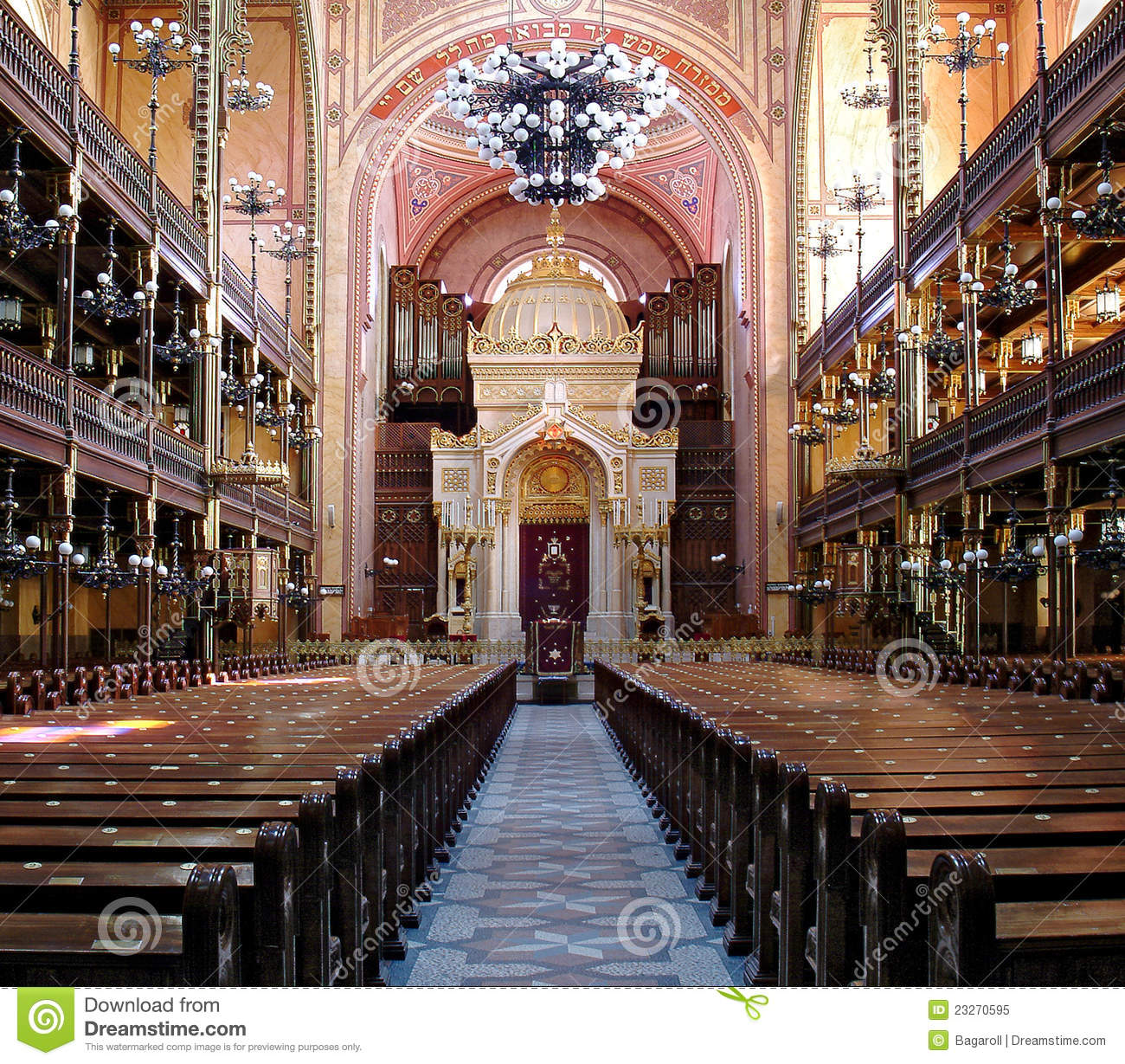 Download Synagogue Budapest stock image. Image of design, place - 23270595