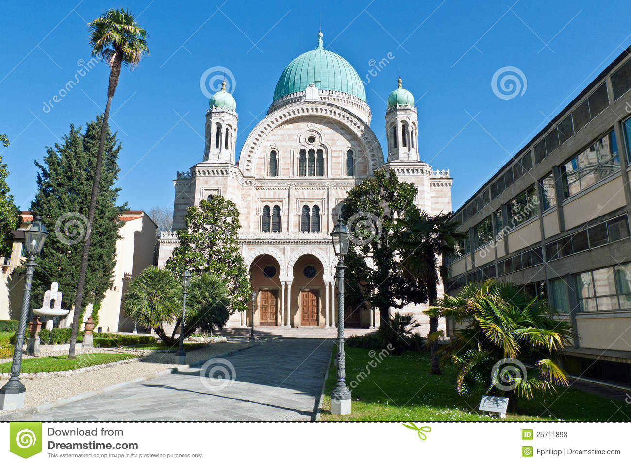 Italian Florence: Synagogue In Florence Stock Photos