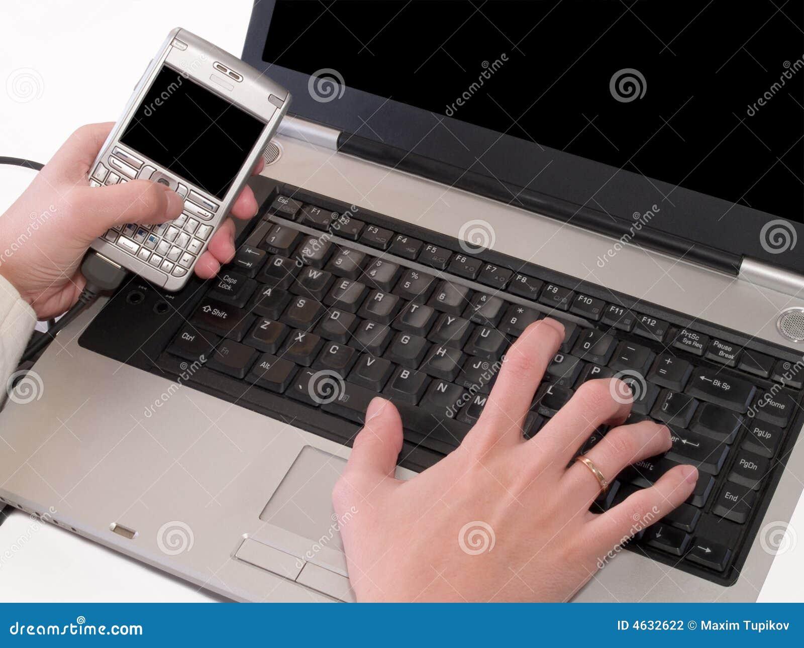 Synchronisation des données entre le pda et l ordinateur portatif