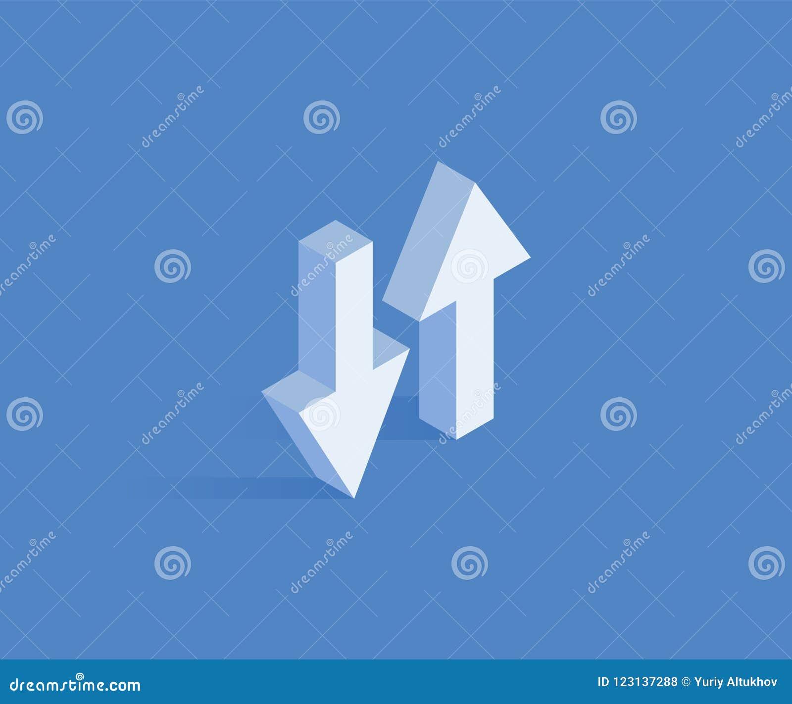 Synchronisieren der isometrischen Ikone der Daten Vector Illustration für Webdesign in der flachen isometrischen Art 3D
