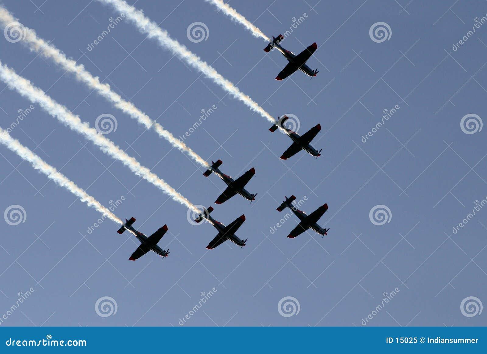 Synchronisierter Teamflug III