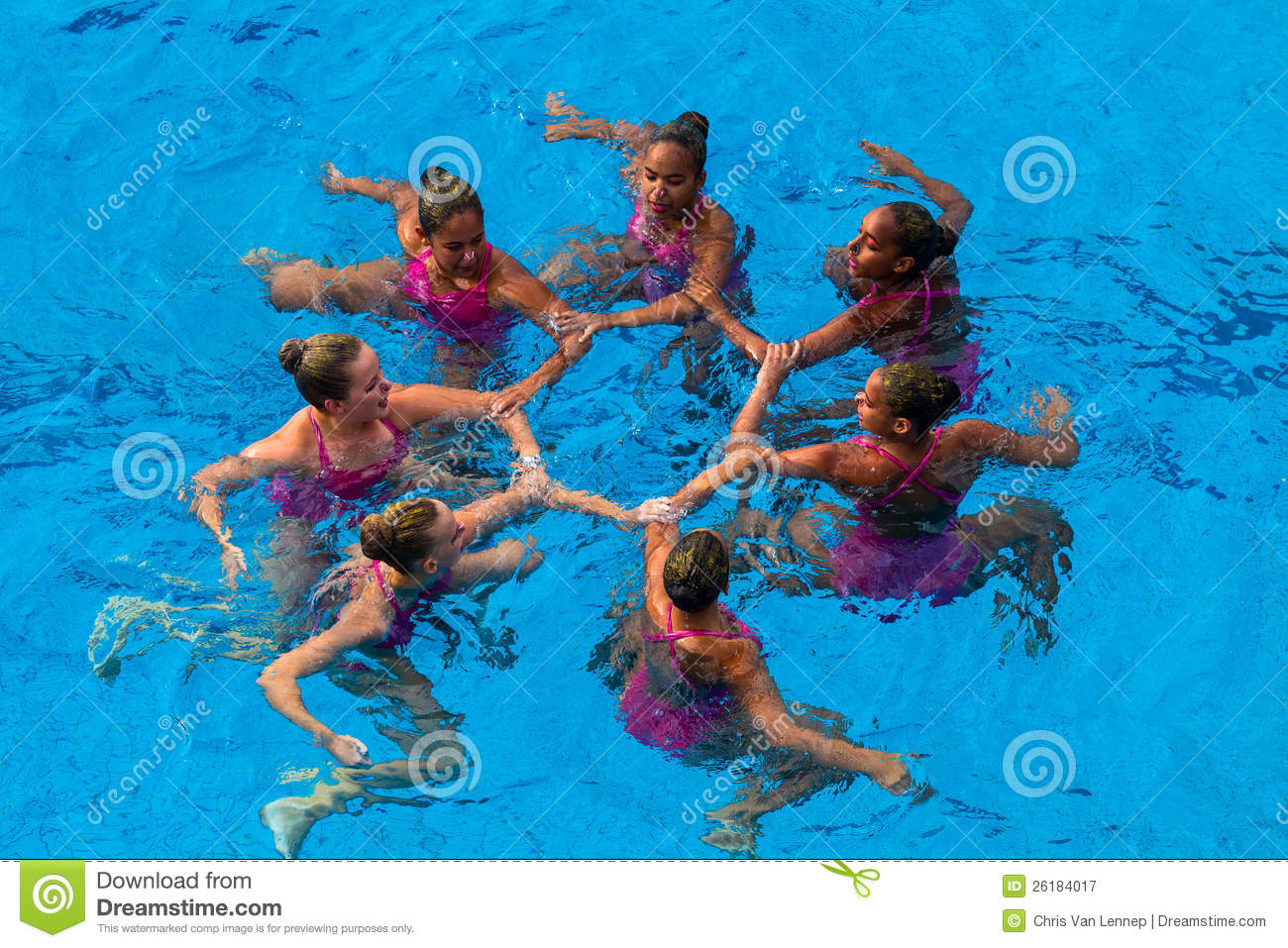 Synchronized Swim Womens Dance Editorial Photography - Image: 26184017