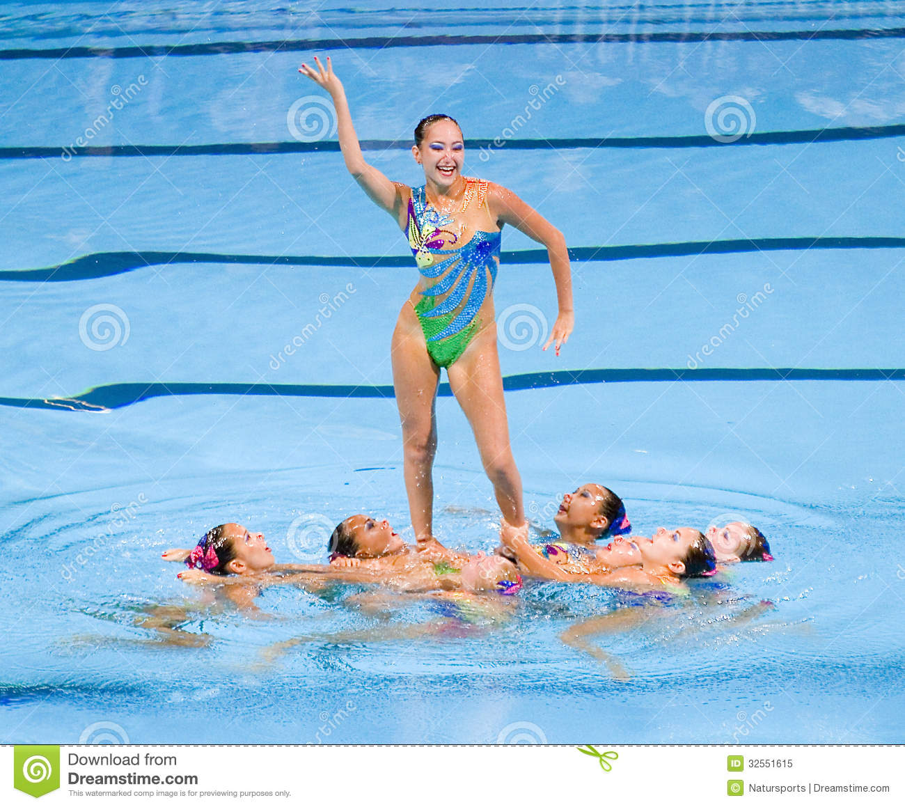 Synchronized swimming kazakhstan editorial image image for Swimming images