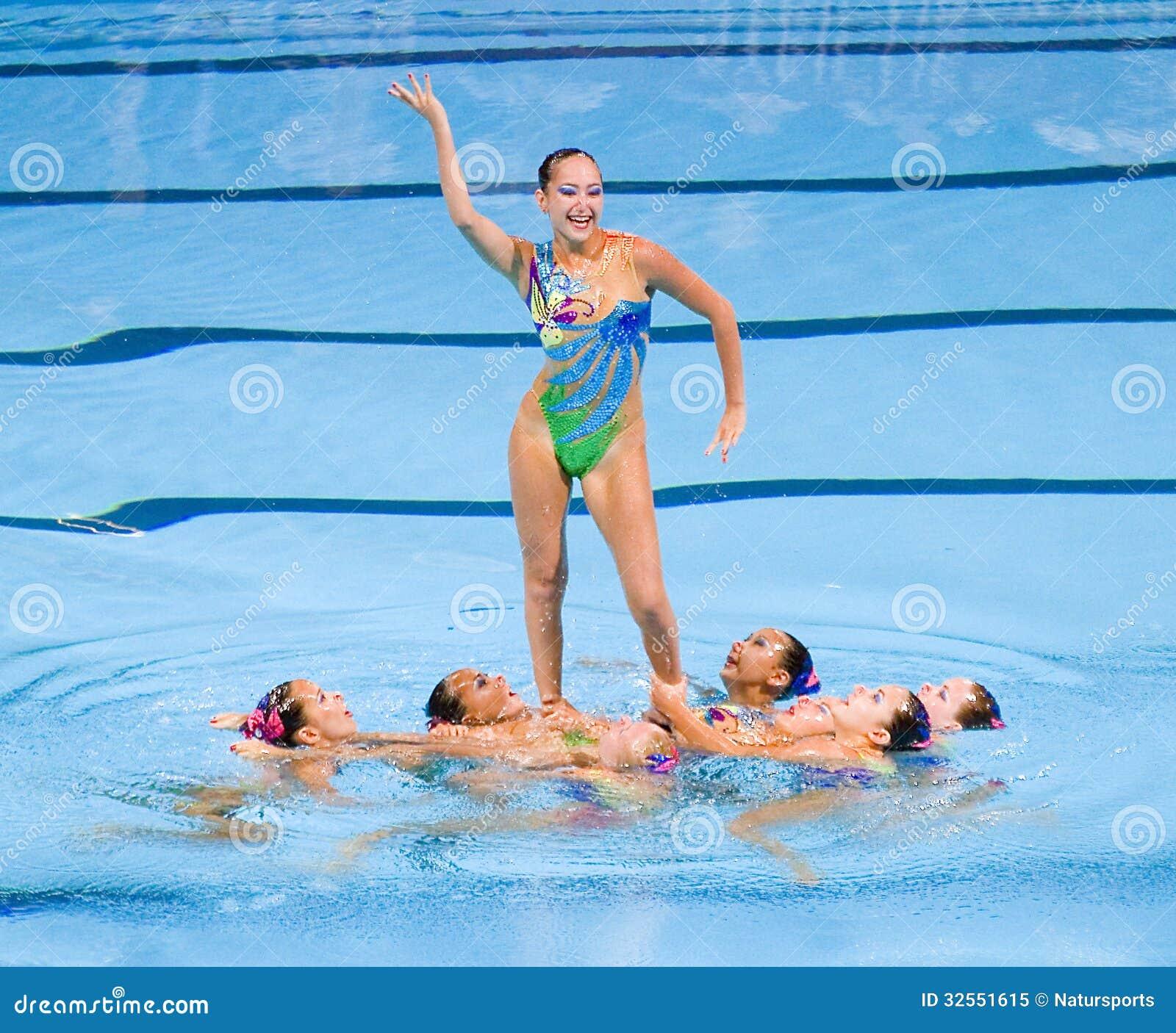 Synchronized Swimming - Kazakhstan Editorial Image