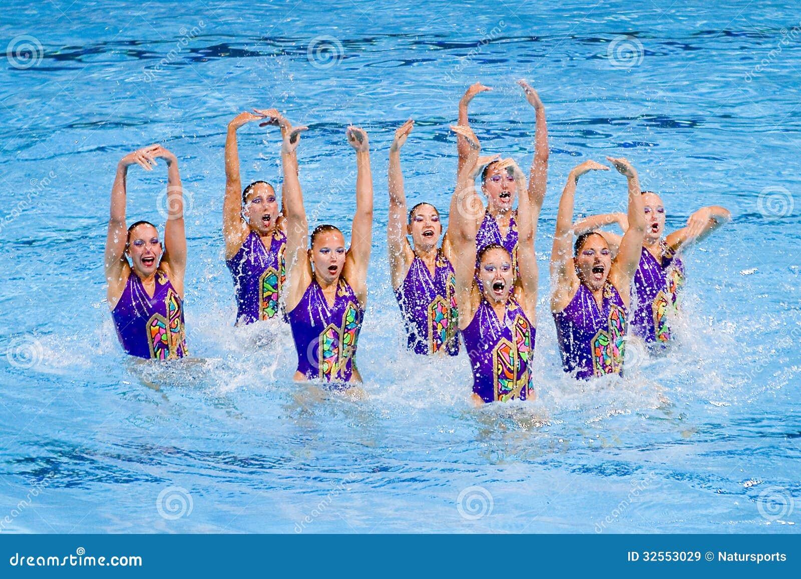 synchronized swimming switzerland editorial stock image image 32553029 dog sled clip art free dog sled team clipart
