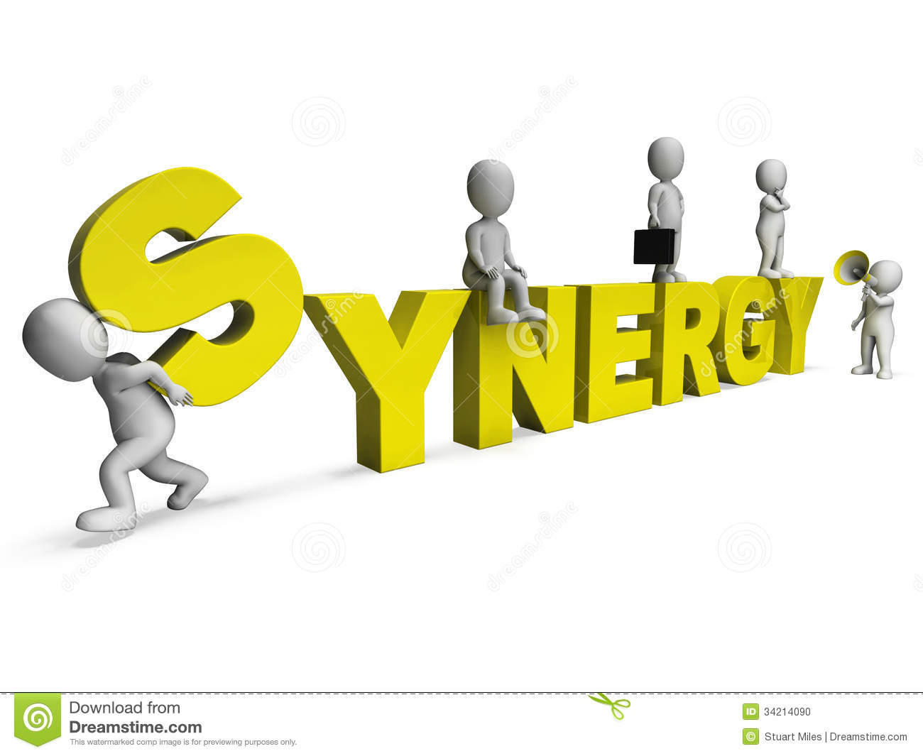 Dealer For The People >> Synergy - Teamwork People Partner For Combined Strength Royalty-Free Stock Photo | CartoonDealer ...