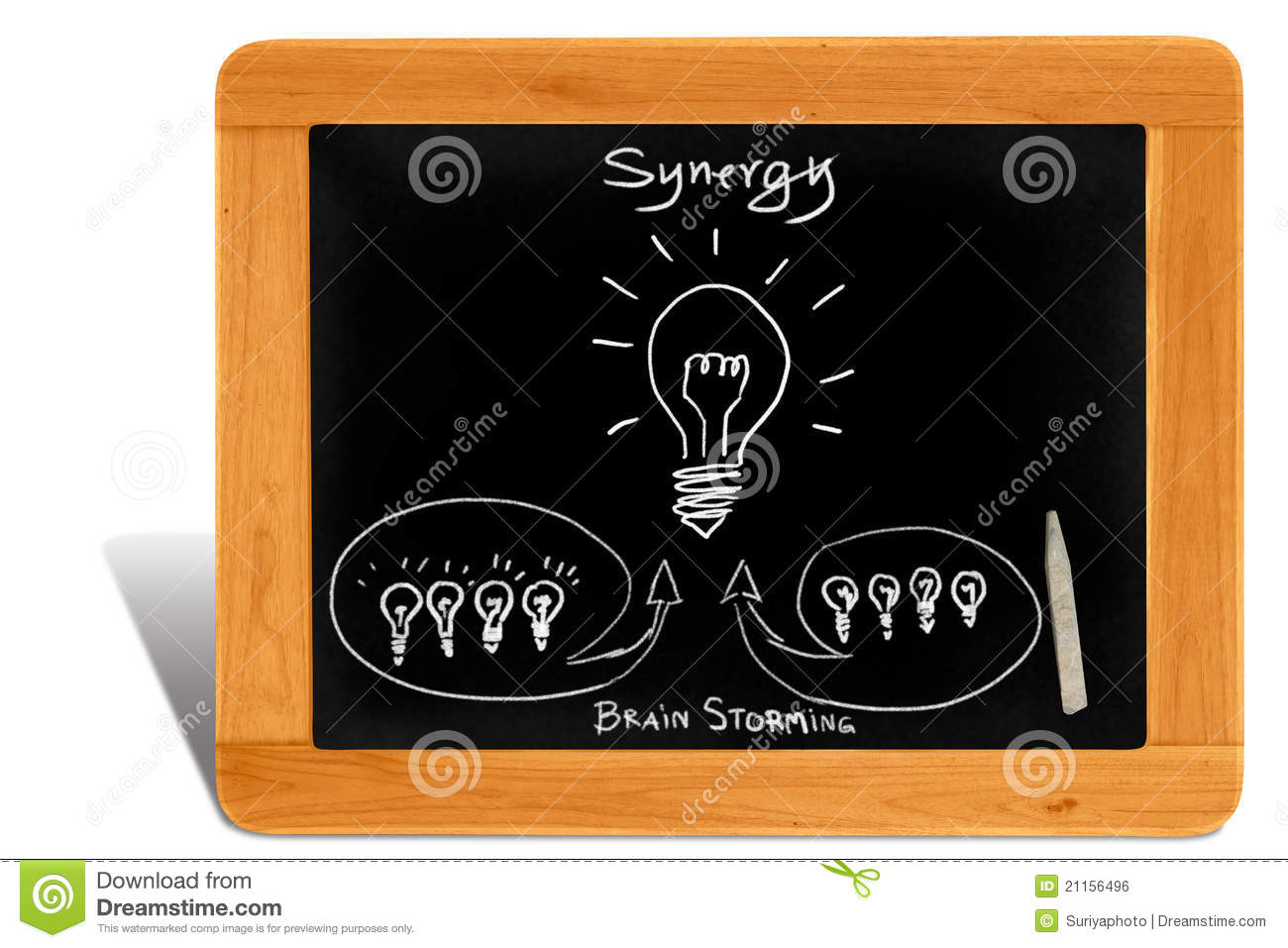 Classroom Design Study ~ Synergy idea by brain storming royalty free stock image