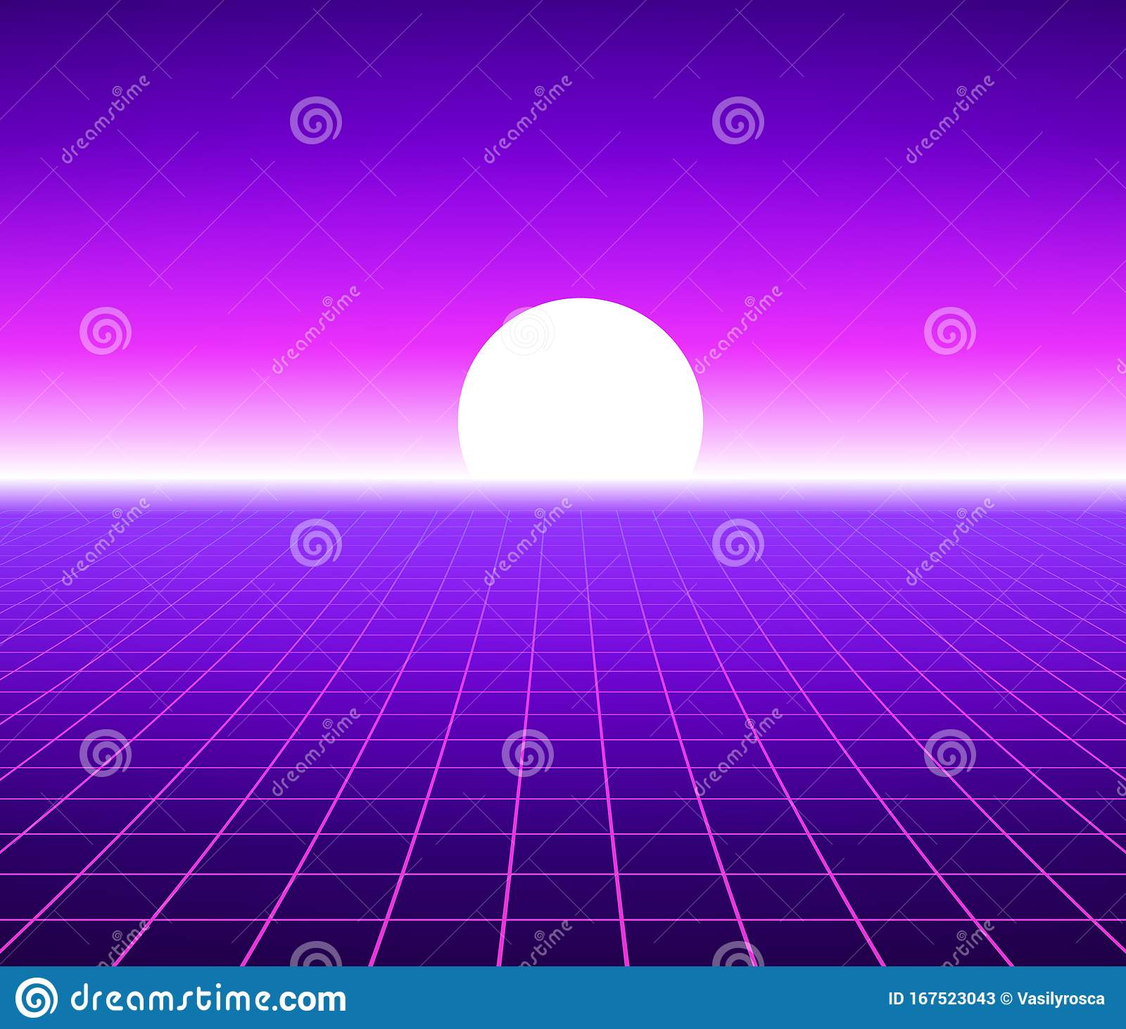 Synth Wave Retro Grid Background Synthwave 80s Vapor Vector Game Poster Neon Futuristic Laser Space Arcade Stock Vector Illustration Of Neon Rave 167523043