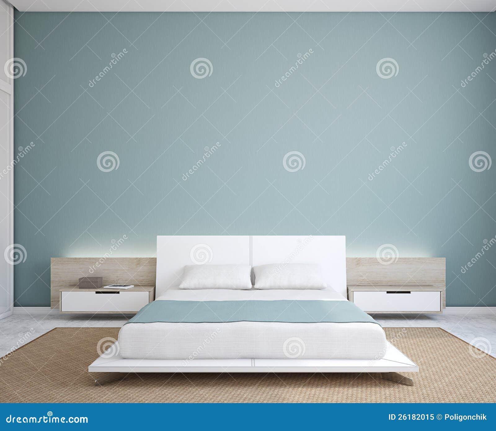 Sypialni nowożytny wnętrze.