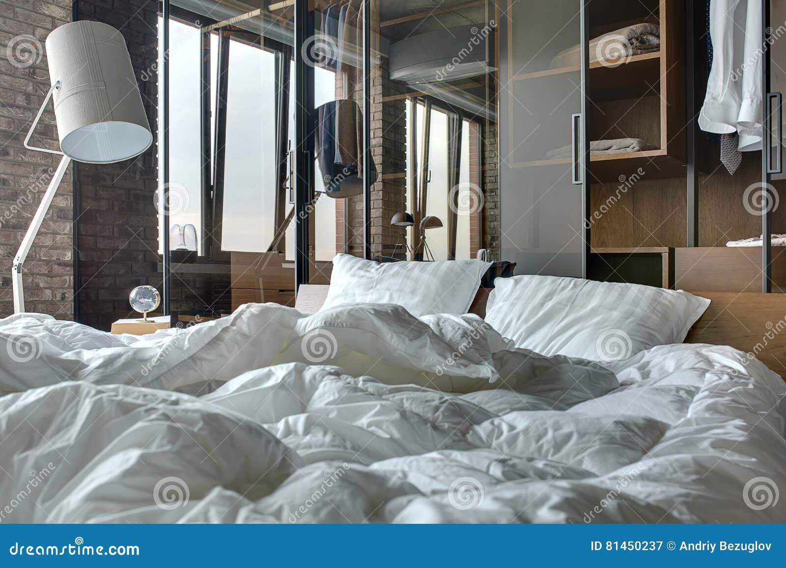 Sypialnia W Loft Stylu Obraz Stock Obraz Złożonej Z