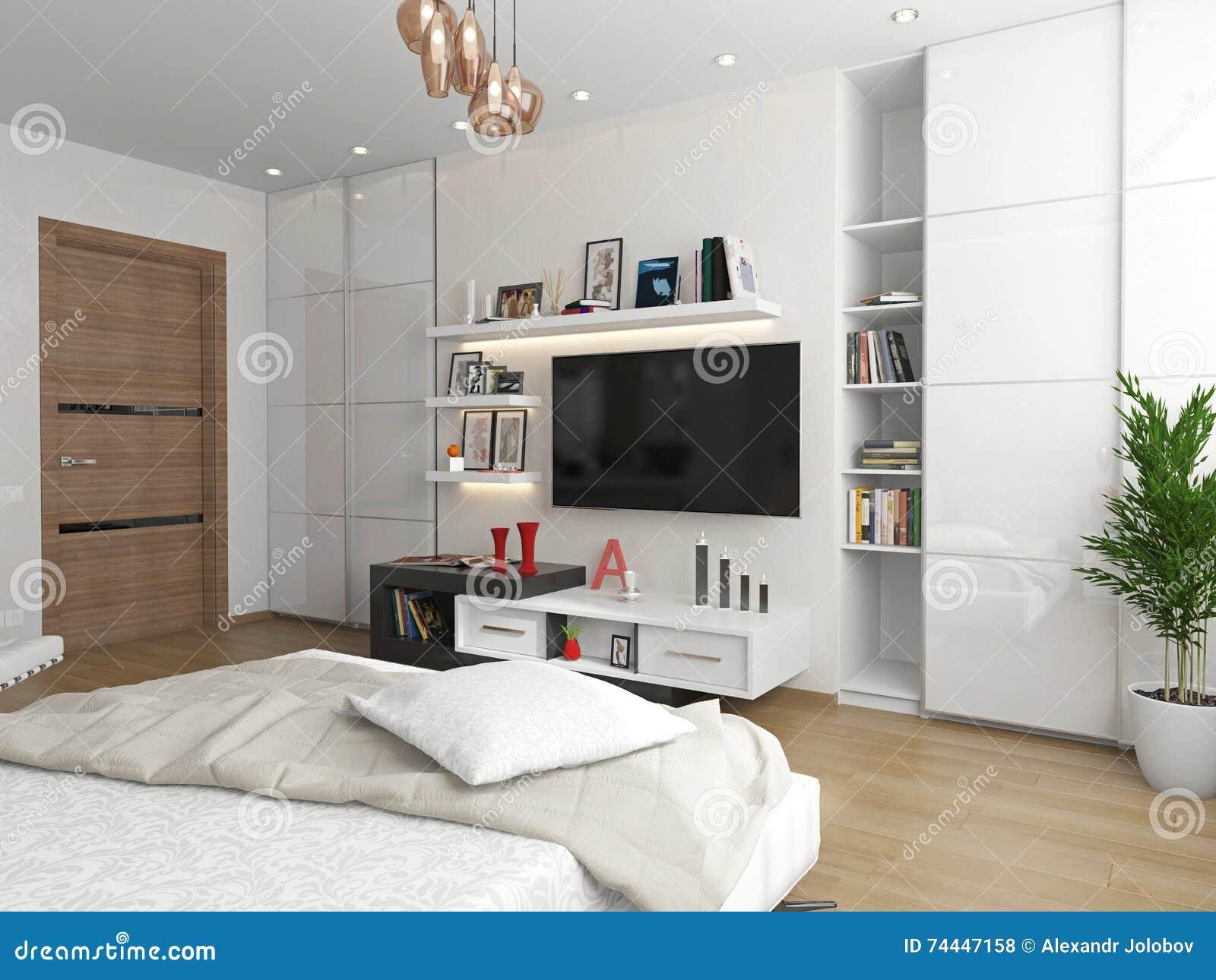 Sypialnia z widokiem TV