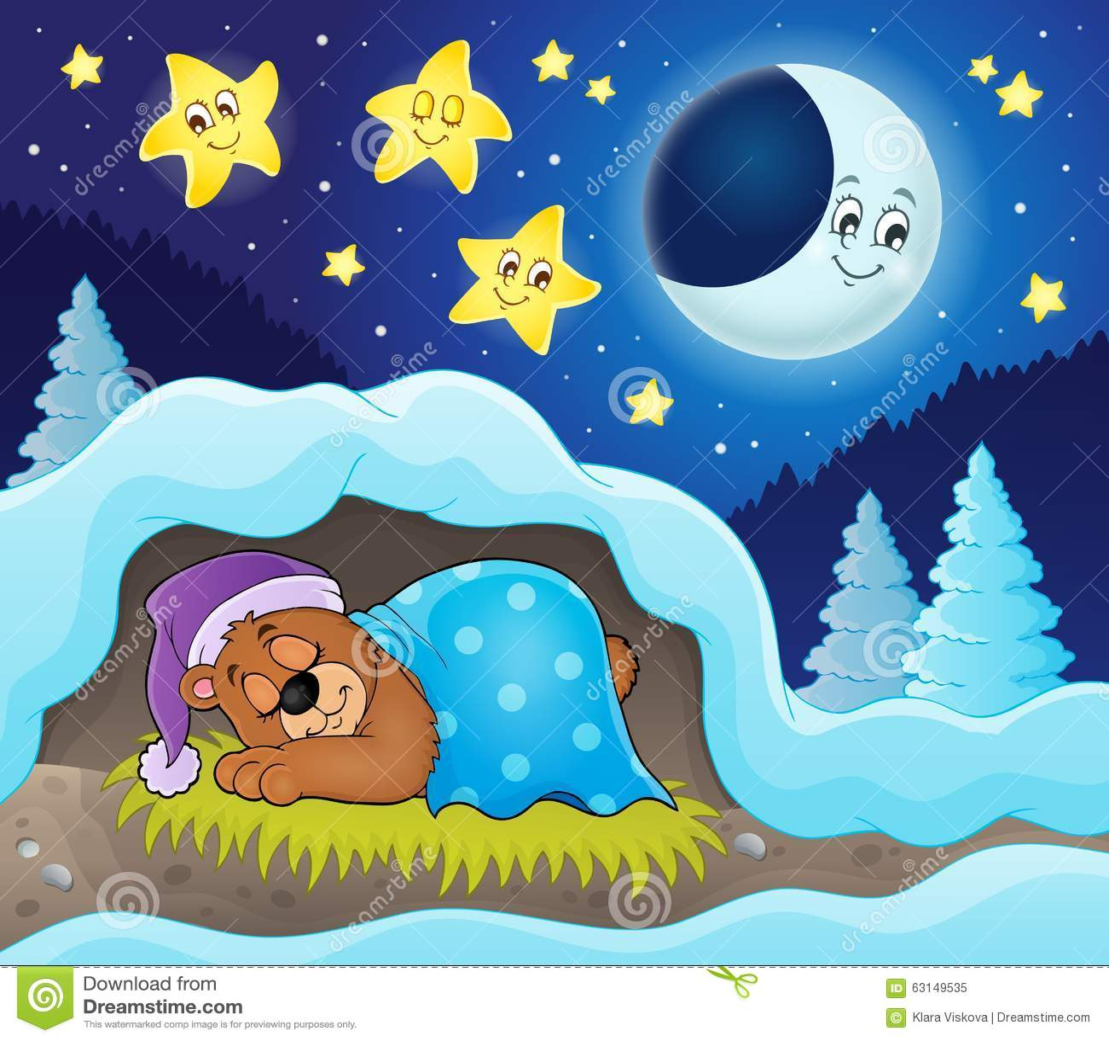 Sypialny niedźwiadkowy tematu wizerunek 3