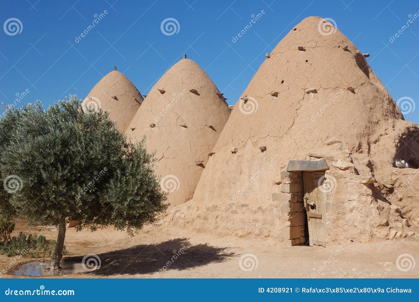 Syrië-klei die op woestijn voortbouwt