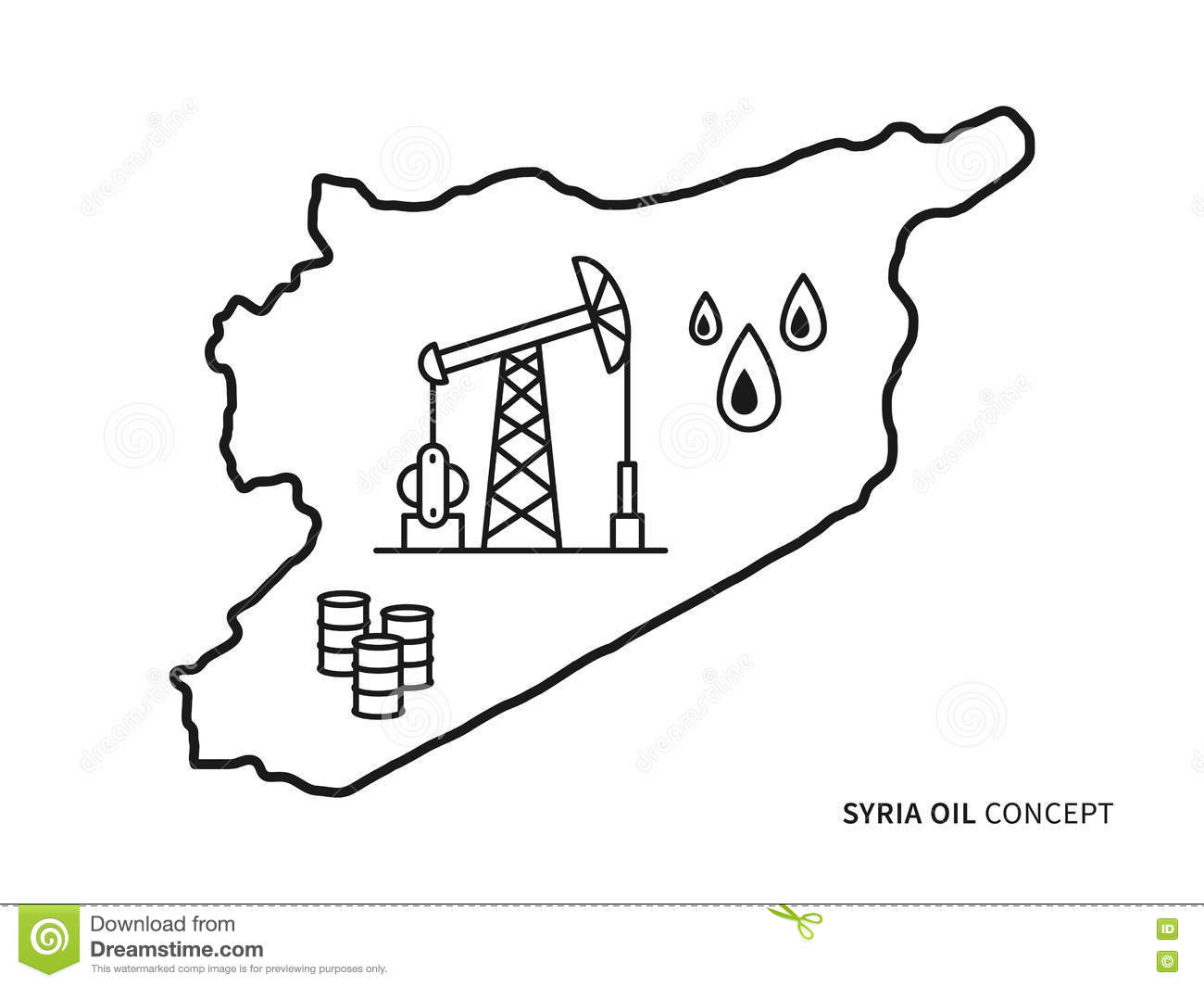 illustration - map of syria