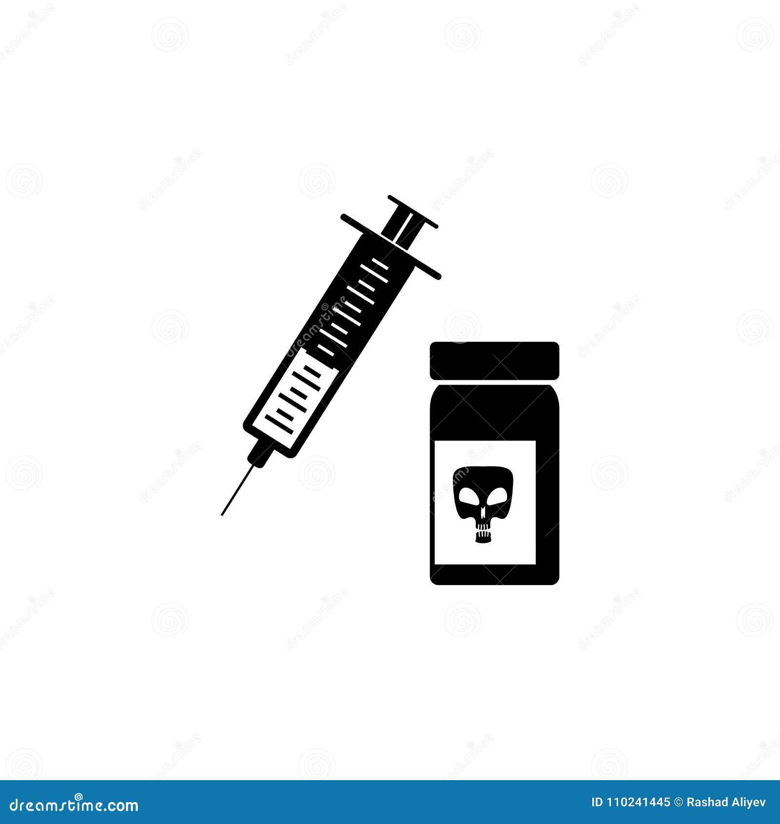 Syringe And Poison Bank Icon Illustration Of A Criminal Scenes Icon