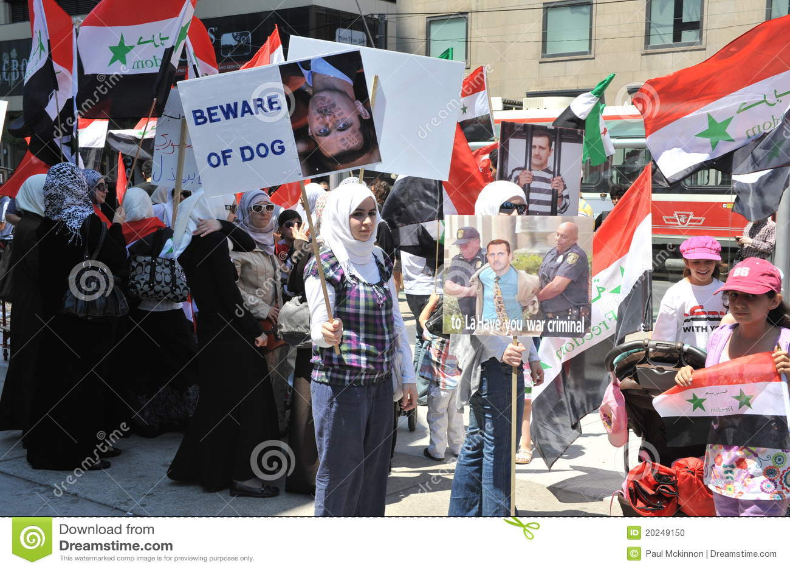 Syrische Sammlung für Freiheit in Toronto