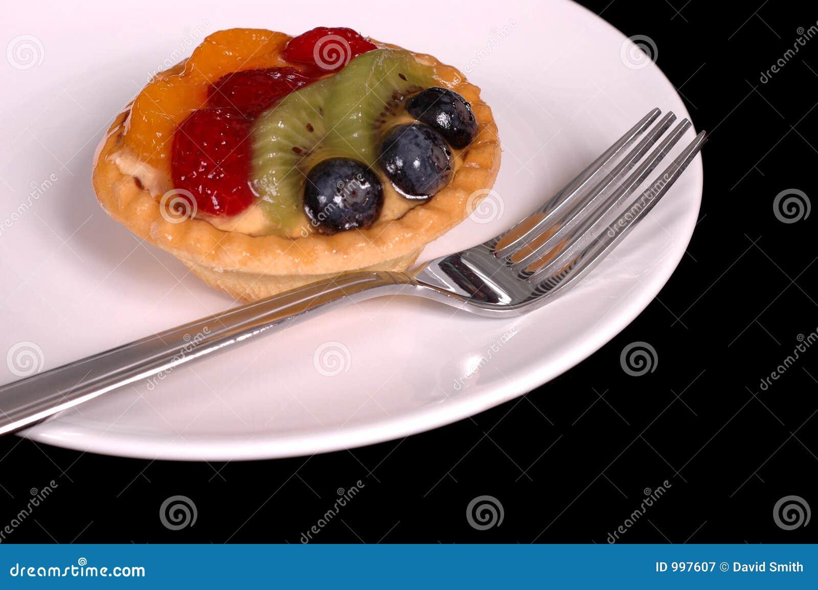 Syrlig platta för 2 frukt