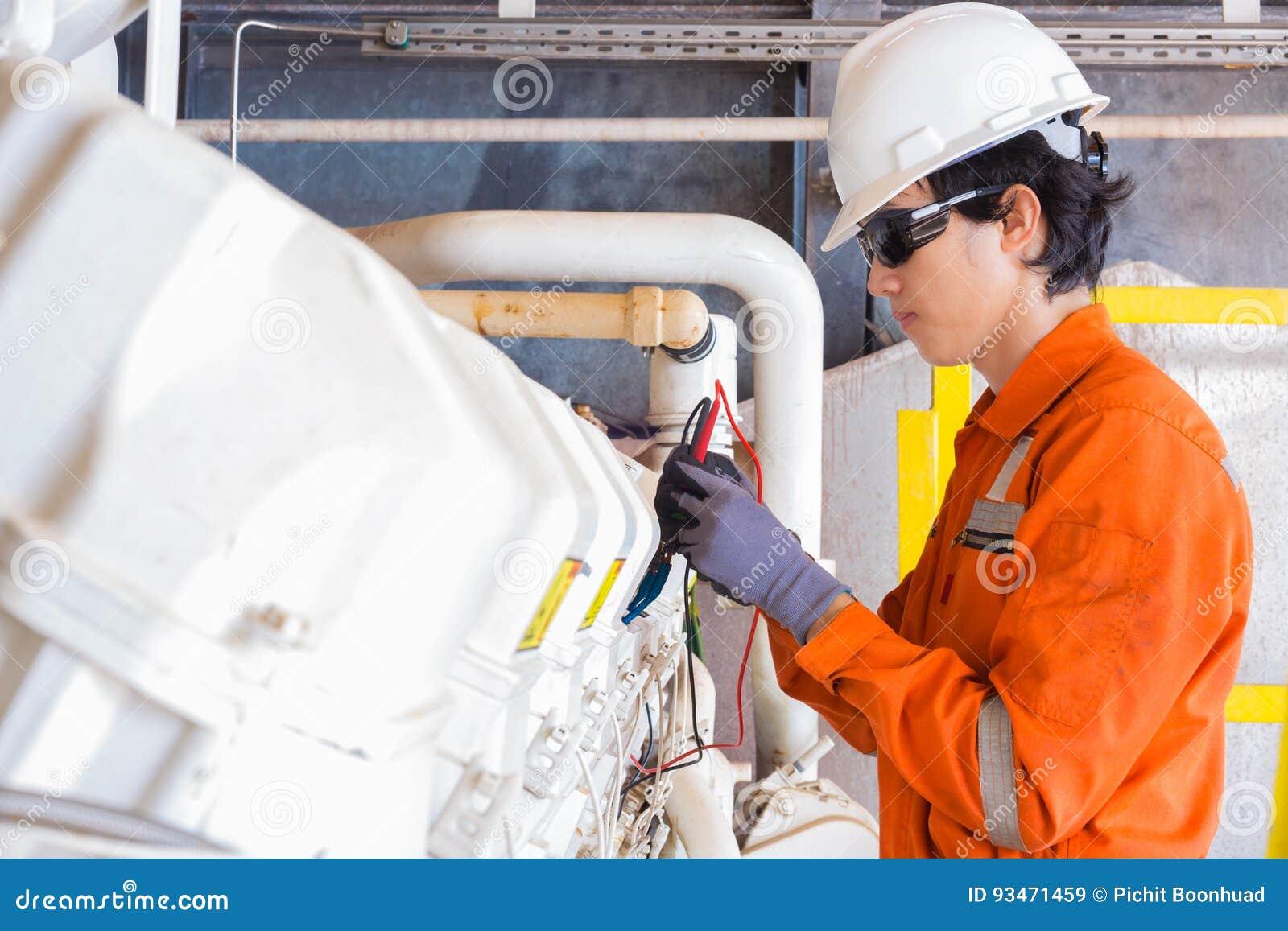 Système électrique électrique et d instrument de technicien juste d entretien de moteur de compresseur de propulseur de gaz à la