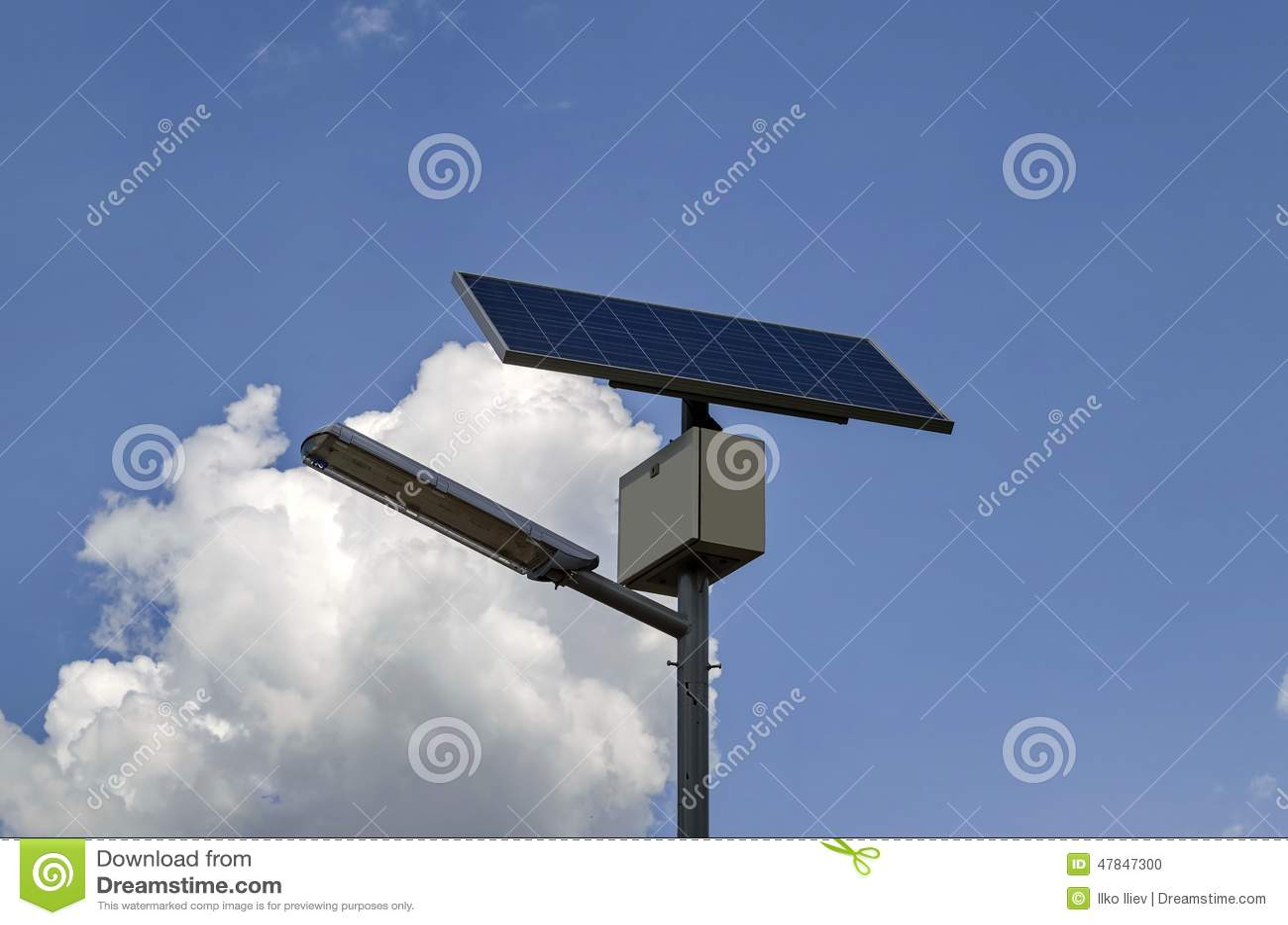 syst me d 39 clairage solaire autonome photo stock image 47847300. Black Bedroom Furniture Sets. Home Design Ideas