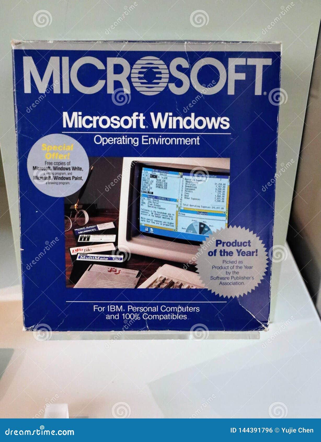 Système d exploitation de Microsoft Windows, version1, c 1985