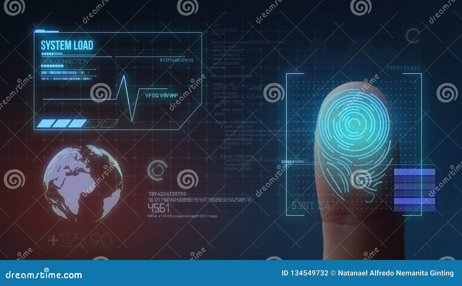 Système d identification de balayage biométrique d empreinte digitale
