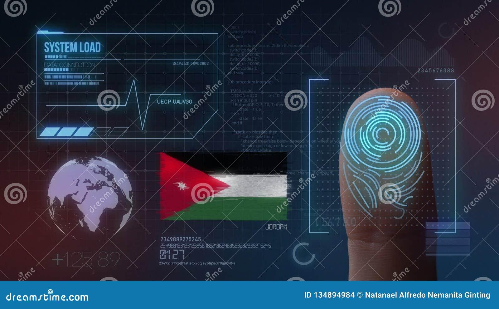 Système d identification de balayage biométrique d empreinte digitale Jordan Nationality