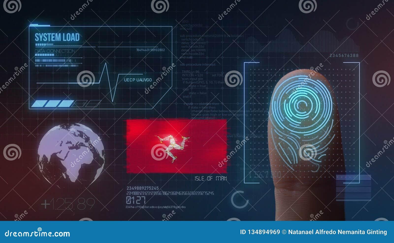 Système d identification de balayage biométrique d empreinte digitale Nationalité d île de Man