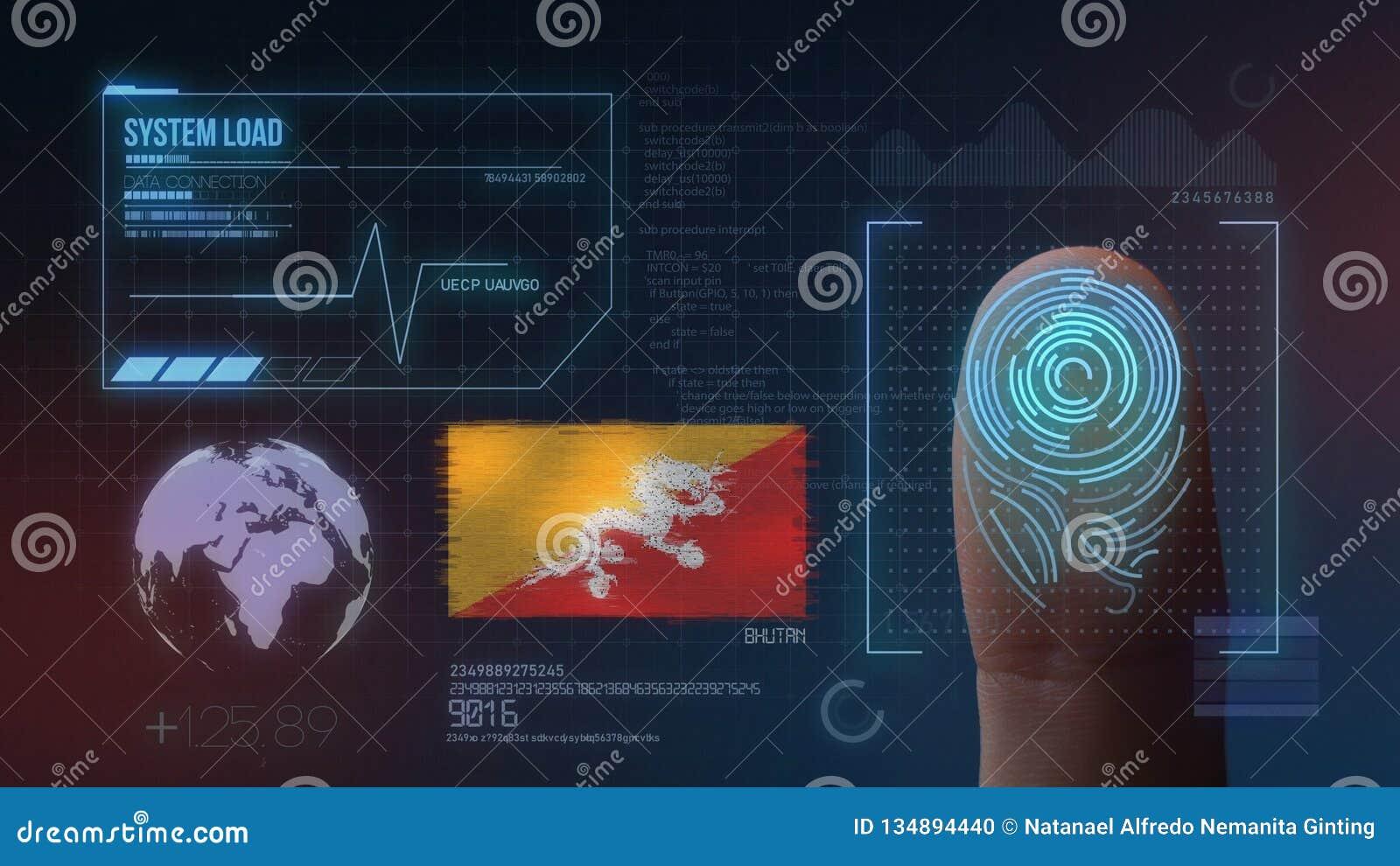 Système d identification de balayage biométrique d empreinte digitale Nationalité du Bhutan