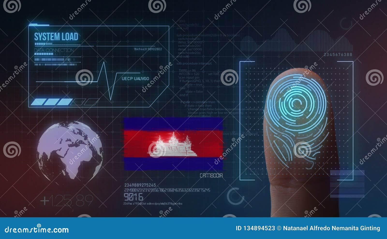 Système d identification de balayage biométrique d empreinte digitale Nationalité du Cambodge