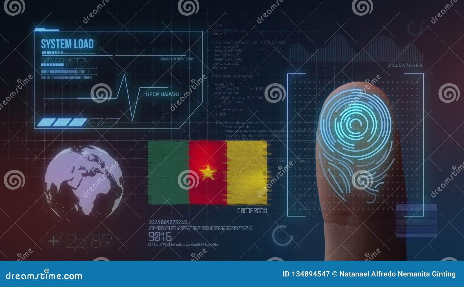 Système d identification de balayage biométrique d empreinte digitale Nationalité du Cameroun