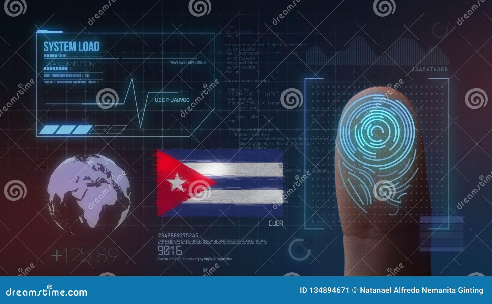Système d identification de balayage biométrique d empreinte digitale Nationalité du Cuba