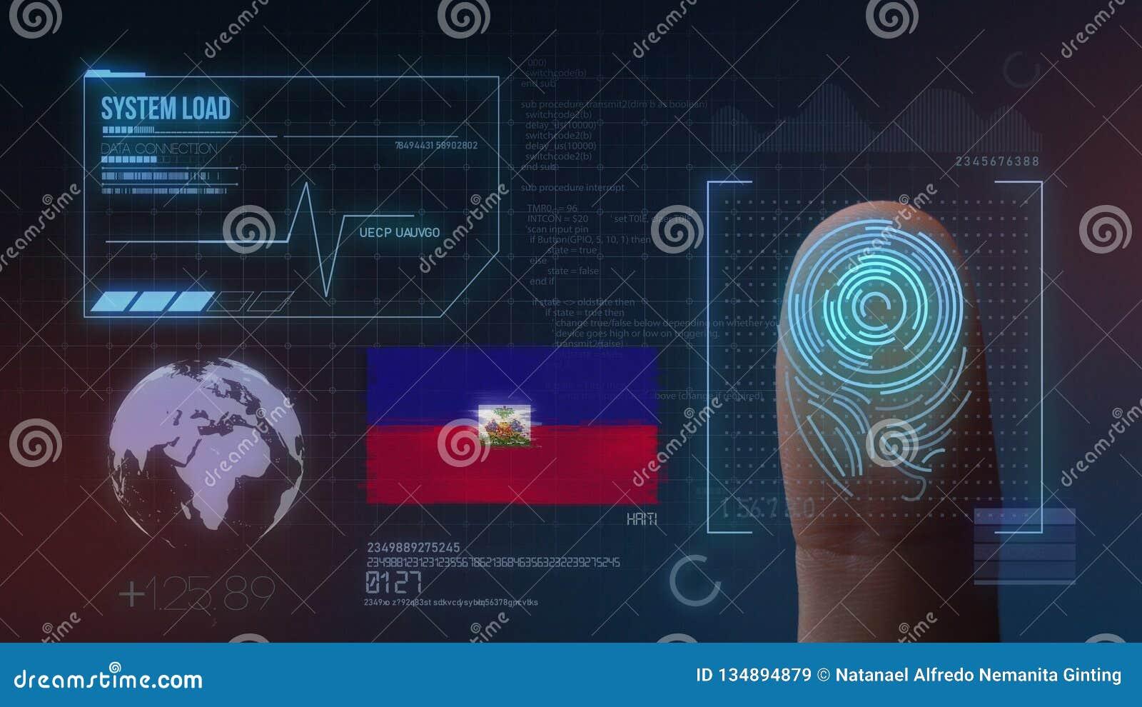 Système d identification de balayage biométrique d empreinte digitale Nationalité du Haïti