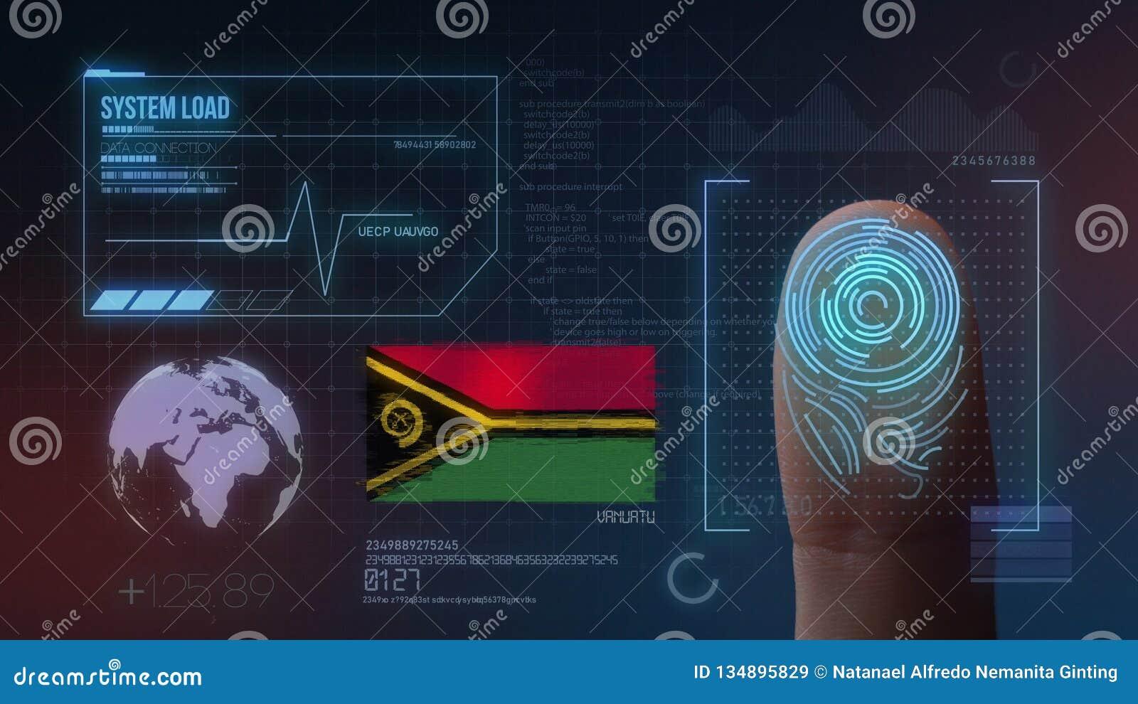 Système d identification de balayage biométrique d empreinte digitale Nationalité du Vanuatu