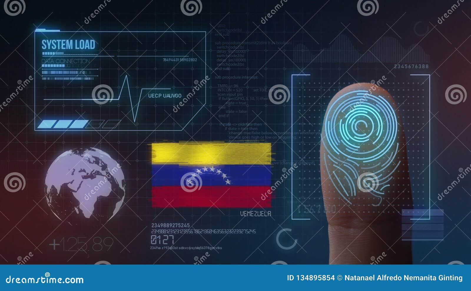 Système d identification de balayage biométrique d empreinte digitale Nationalité du Venezuela