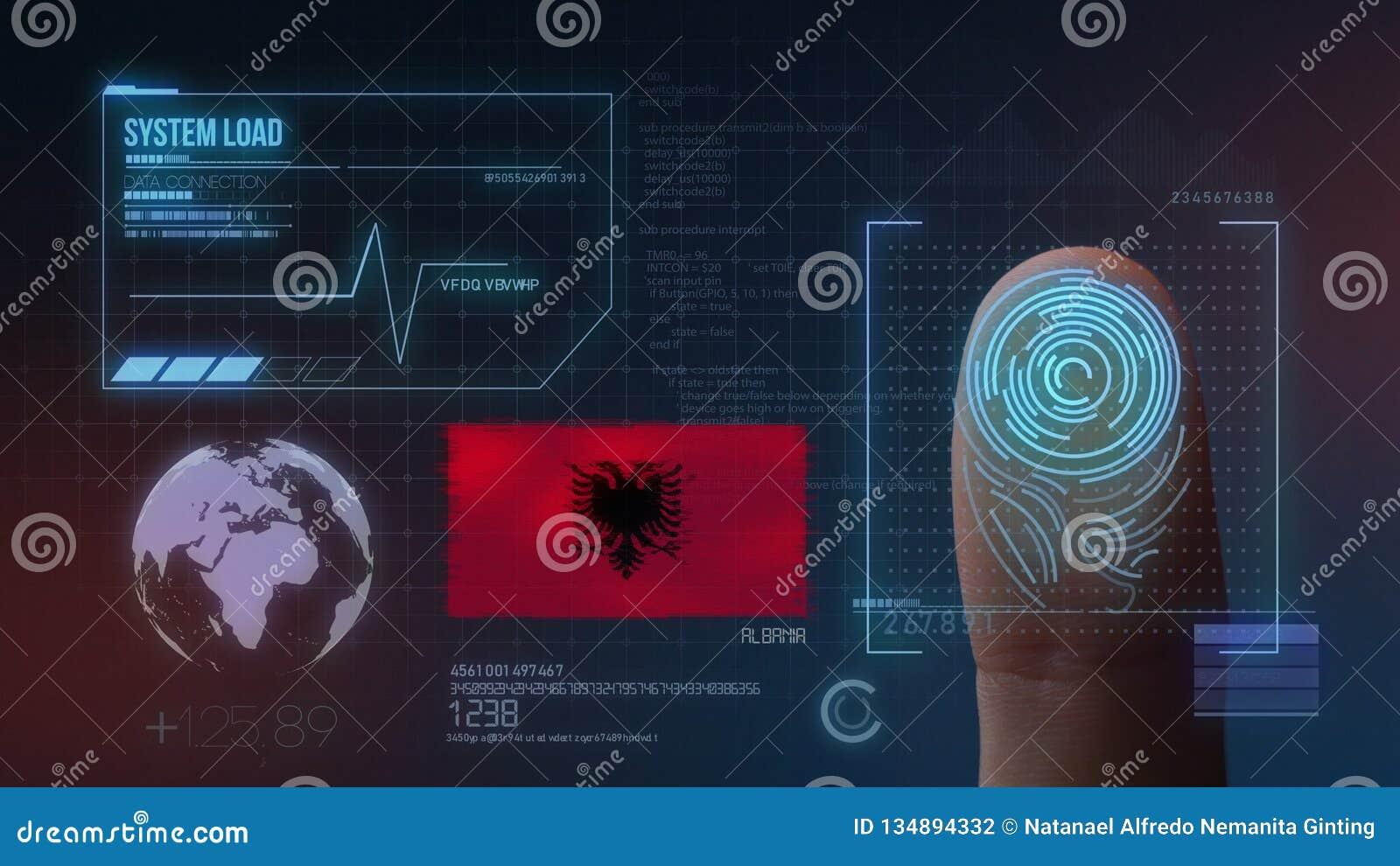 Système d identification de balayage biométrique d empreinte digitale Nationalité de l Albanie