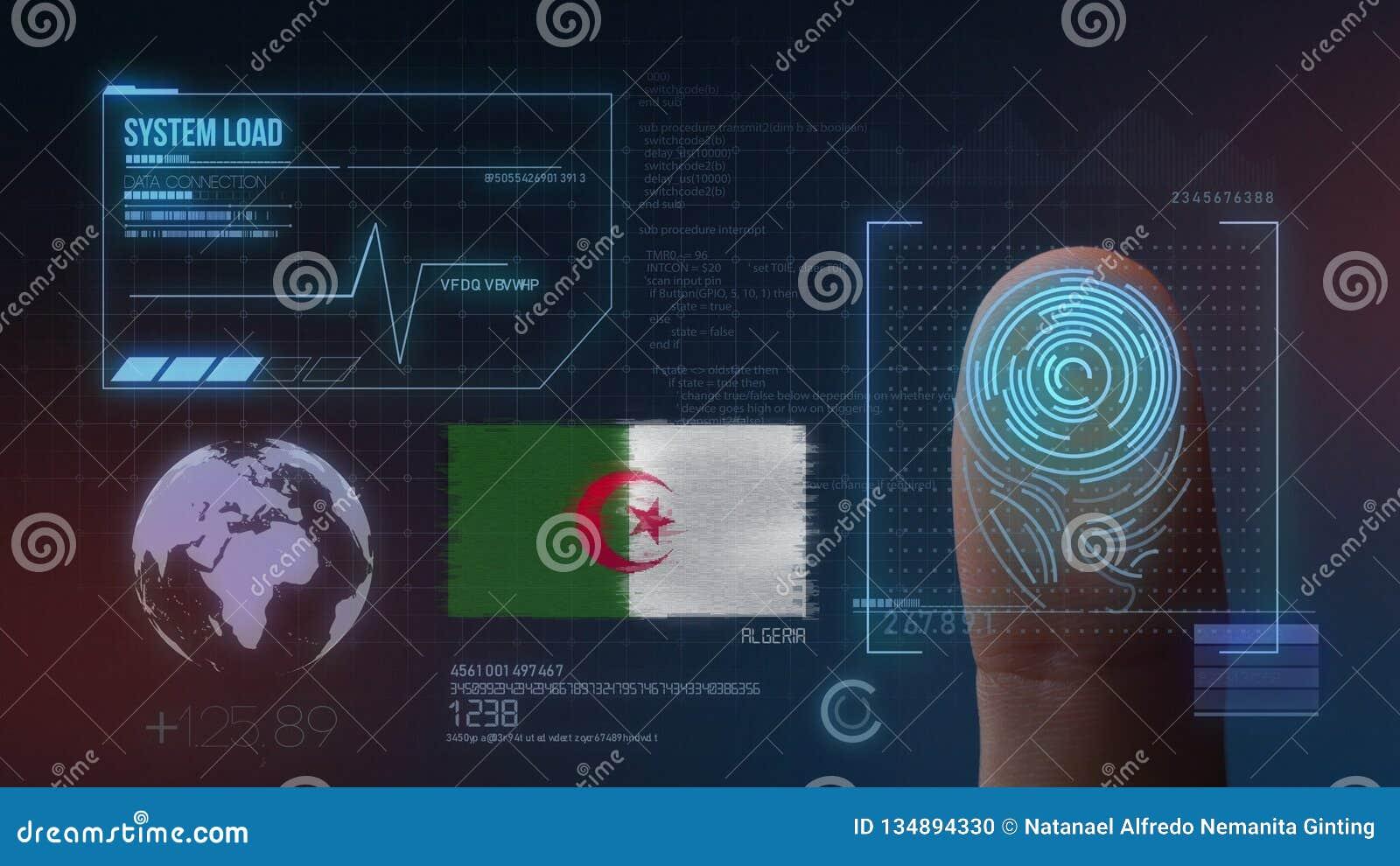 Système d identification de balayage biométrique d empreinte digitale Nationalité de l Algérie