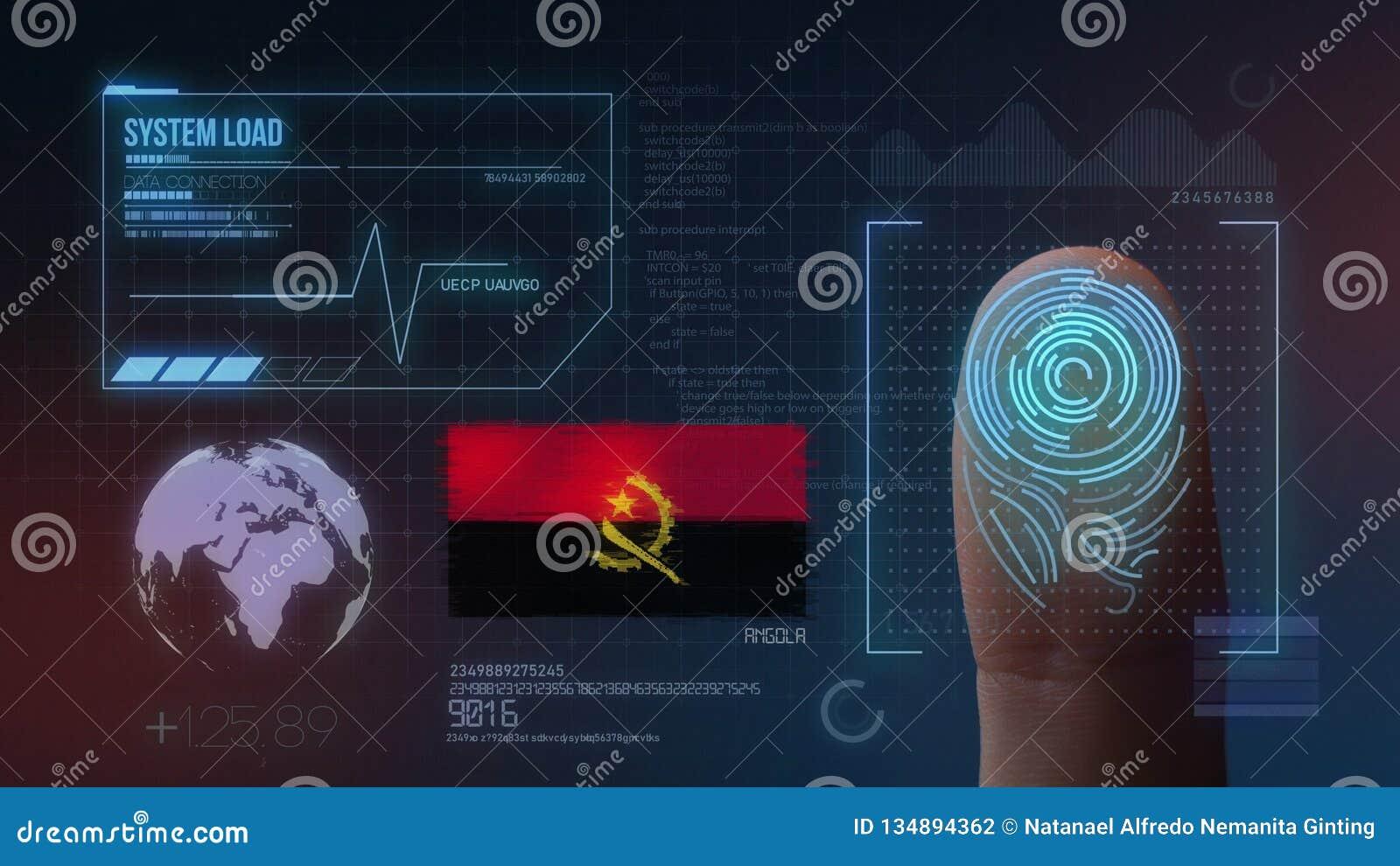 Système d identification de balayage biométrique d empreinte digitale Nationalité de l Angola