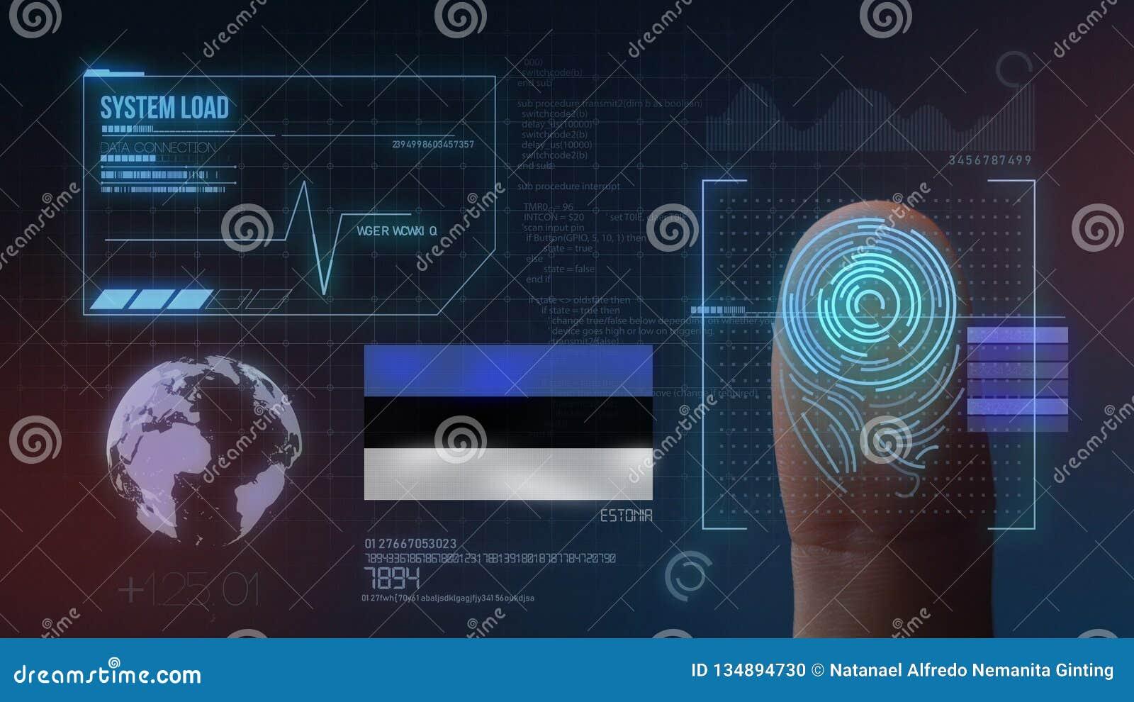 Système d identification de balayage biométrique d empreinte digitale Nationalité de l Estonie