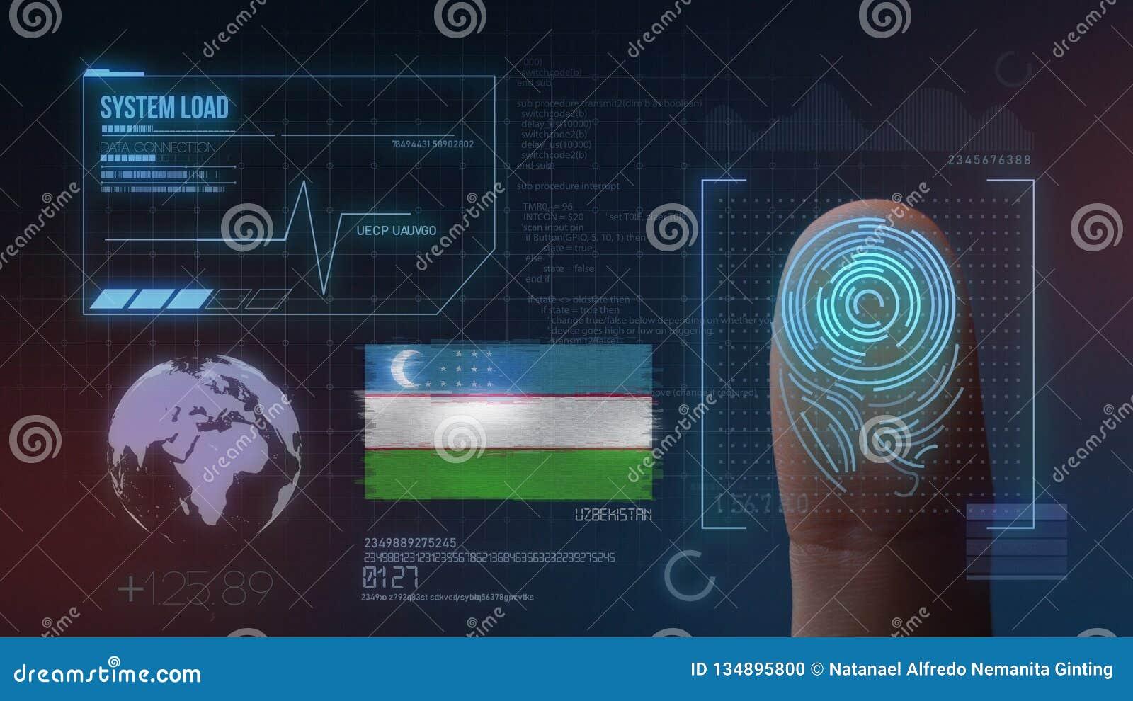 Système d identification de balayage biométrique d empreinte digitale Nationalité de l Ouzbékistan