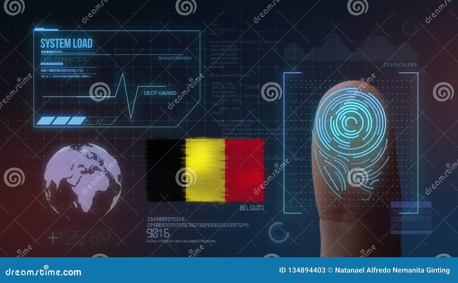 Système d identification de balayage biométrique d empreinte digitale Nationalité de la Belgique