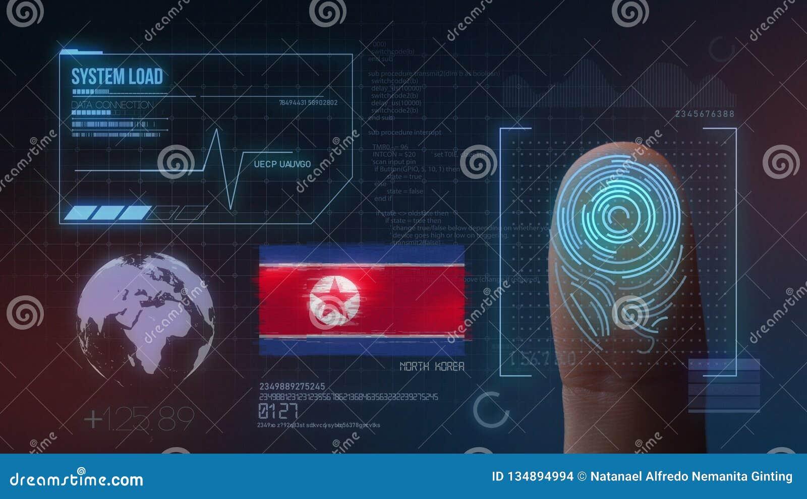 Système d identification de balayage biométrique d empreinte digitale Nationalité de la Corée du Nord