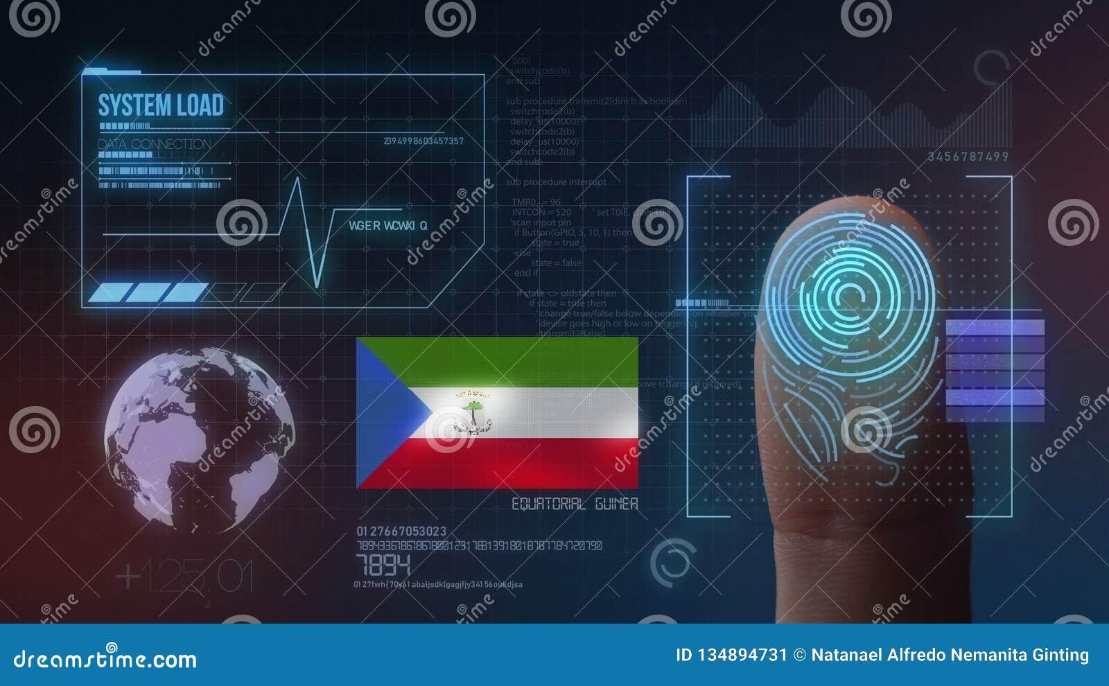 Système d identification de balayage biométrique d empreinte digitale Nationalité de la Guinée équatoriale