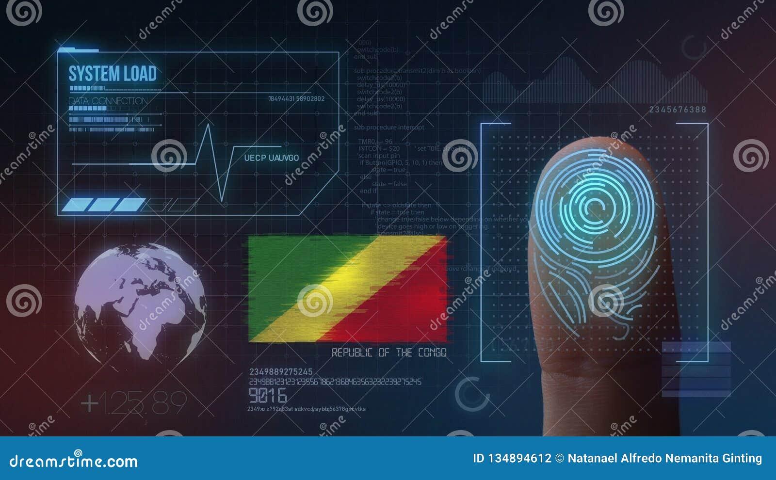 Système d identification de balayage biométrique d empreinte digitale Nationalité de la République du Congo